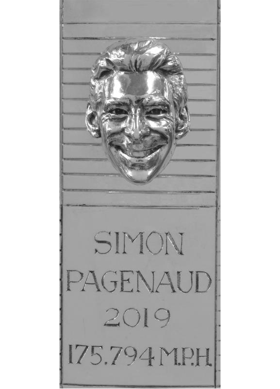 Pagenaud Face on Trophy